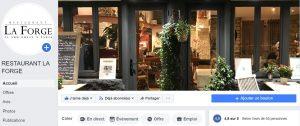 page Facebook restaurant La Forge
