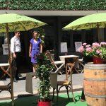 repas en terrasse agrandie restaurant La Forge